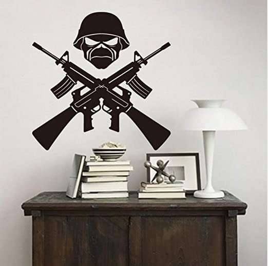 Ponana Decoración Para El Hogar Ak-47 Arma Soldado Tatuajes De ...