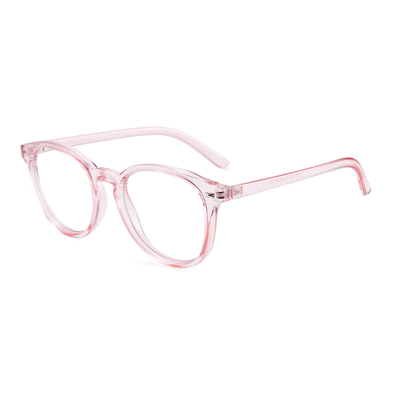 GLINDAR Eyeglasses Frame for Women Men Blue Light Blocking Computer Glasses Anti UV Headache Eye Eyestrain