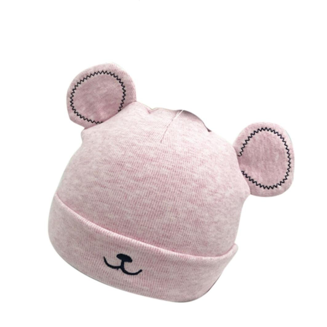 Baby Hat for 0-12 Months Kids , Xshuai Fashion Newborn Toddler Baby Girl Boy Winter Warm Beanie Hat Cute Ears Plush Woolen Cap