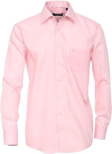 Casa Moda Camisa de Manga Larga sin Planchar Rosa Oversize ...