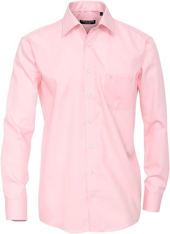 Casa Moda Camisa de Manga Larga sin Planchar Rosa Oversize