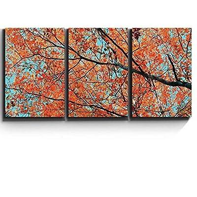 Print Contemporary Art Wall Decor Orange Leaves on...36
