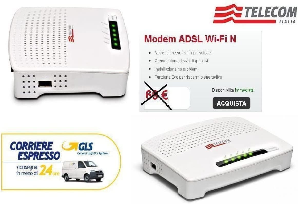 MODEM ROUTER ADSL2 + WiFi N Telecom Alice sin antenas Telecom ...
