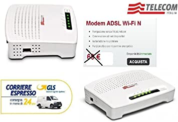 MODEM ROUTER ADSL2 + WiFi N Telecom Alice sin antenas ...