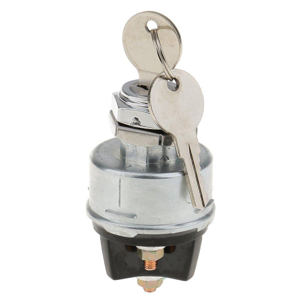 Gazechimp Interrupteur D'Allumage Universel Verrouillage Montage Encastré 12 V 2 Clé 3 Positions Arrêt Au Démarrage Auto Accessoire