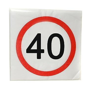 Preis Am Stiel 1 X Geburtstags Servietten 40 40 Geburtstag