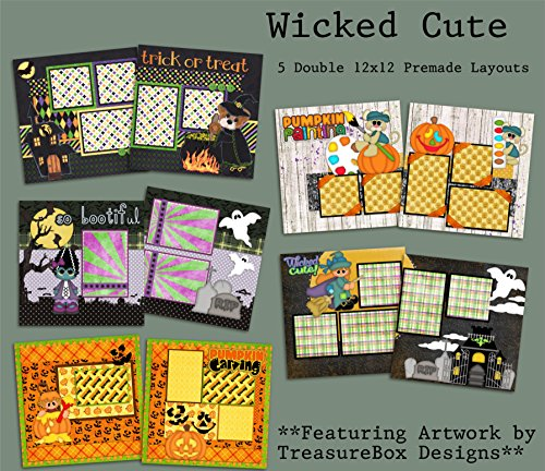 Wicked Cute Scrapbook Set - 5 Double Page Layouts (Halloween Double Page Layouts)