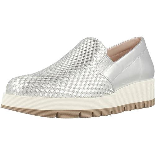 Mocasines para Mujer, Color Plateado, Marca PONS QUINTANA, Modelo Mocasines para Mujer PONS QUINTANA 6658 0P4 Plateado: Amazon.es: Zapatos y complementos
