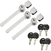 Glazen kast Lock Showcase Lock schuifdeur slot met 2 sleutels Display Case Lock 3 stuks voor deur beveiliging tellers…