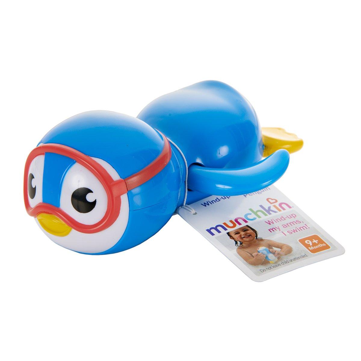Amazon.com : Munchkin Wind Up Swimming Penguin Bath Toy, Blue : Baby