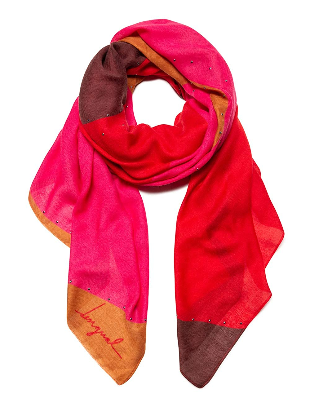 Foulard Mujer Desigual Foul S-Patch Rojo Loft