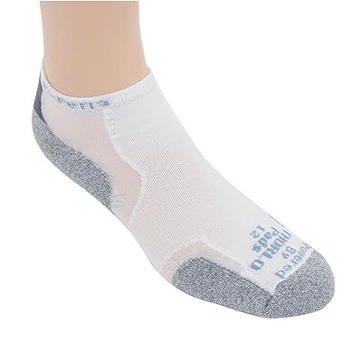 Thorlo Experia Coolmax Thin Cushion Micro Mini-Crew Athletic Sock - White-10