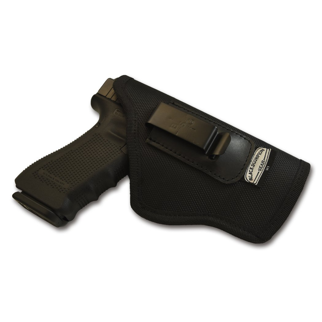 Black Scorpion Outdoor Gear IWB Multigun Holster BSGMGR2 Nylon 1680D .Concealed Carry Holster Springfield XD,XDM Sig P320f,P226 Glock 17,22 Beretta 92F S&W MP9/40 HK P7,VP9 FN P45, P9