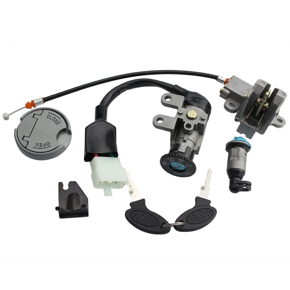 GOOFIT Ignition Switch Key Set for GY6 49cc 50cc Chinese Scooter 139QMB Parts