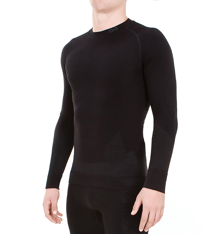 GF Herren Ultra -30 Grad Funktionsshirt T-Shirt Langarmshirt Sportunterhemd Outdoor Funktionsunterwäsche Winter Ski Thermo Funktionswäsche Nahtlos