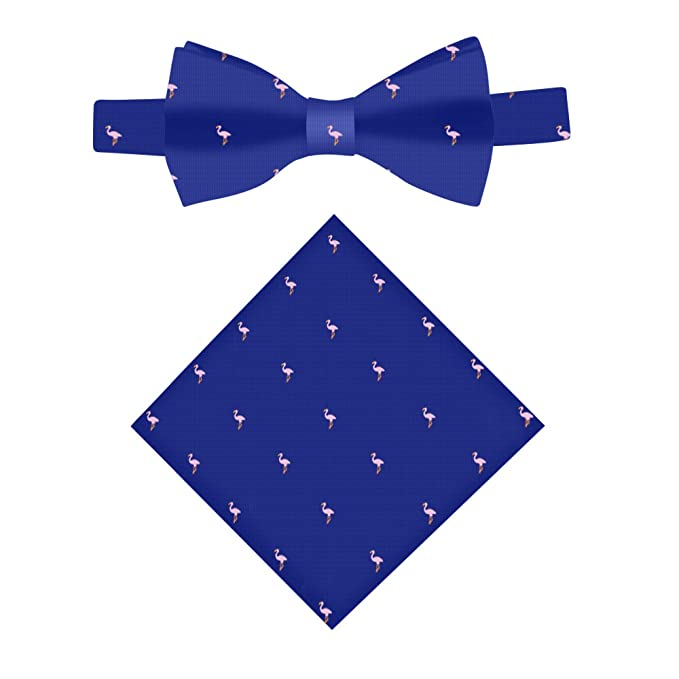f37d8afad22b Image Unavailable. Image not available for. Color: Navy Pink Flamingo Bow  Tie ...