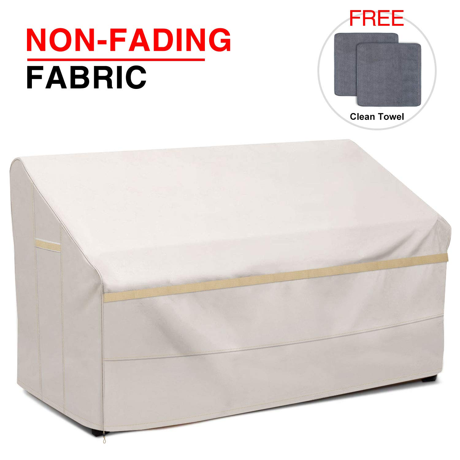Patiassy 100% Waterproof Patio Deep Seat Sofa/Loveseat Cover 60'' W x 35'' D x 32'' H - Heavy Duty 3 Layer Ripstop Outdoor Furniture Covers with Free 2 PCS Towels, 5 Years Warranty