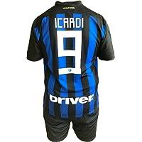 Conjunto Equipacion Camiseta Pantalones Futbol Inter F.C. Mauro Icardi Replica Oficial Autorizado 2018-2019 Niños