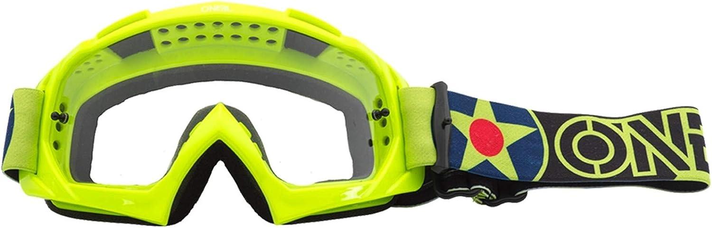 O Neal B10 Warhawk Goggle Mx Dh Brille Gelb Schwarz Klar Oneal Auto