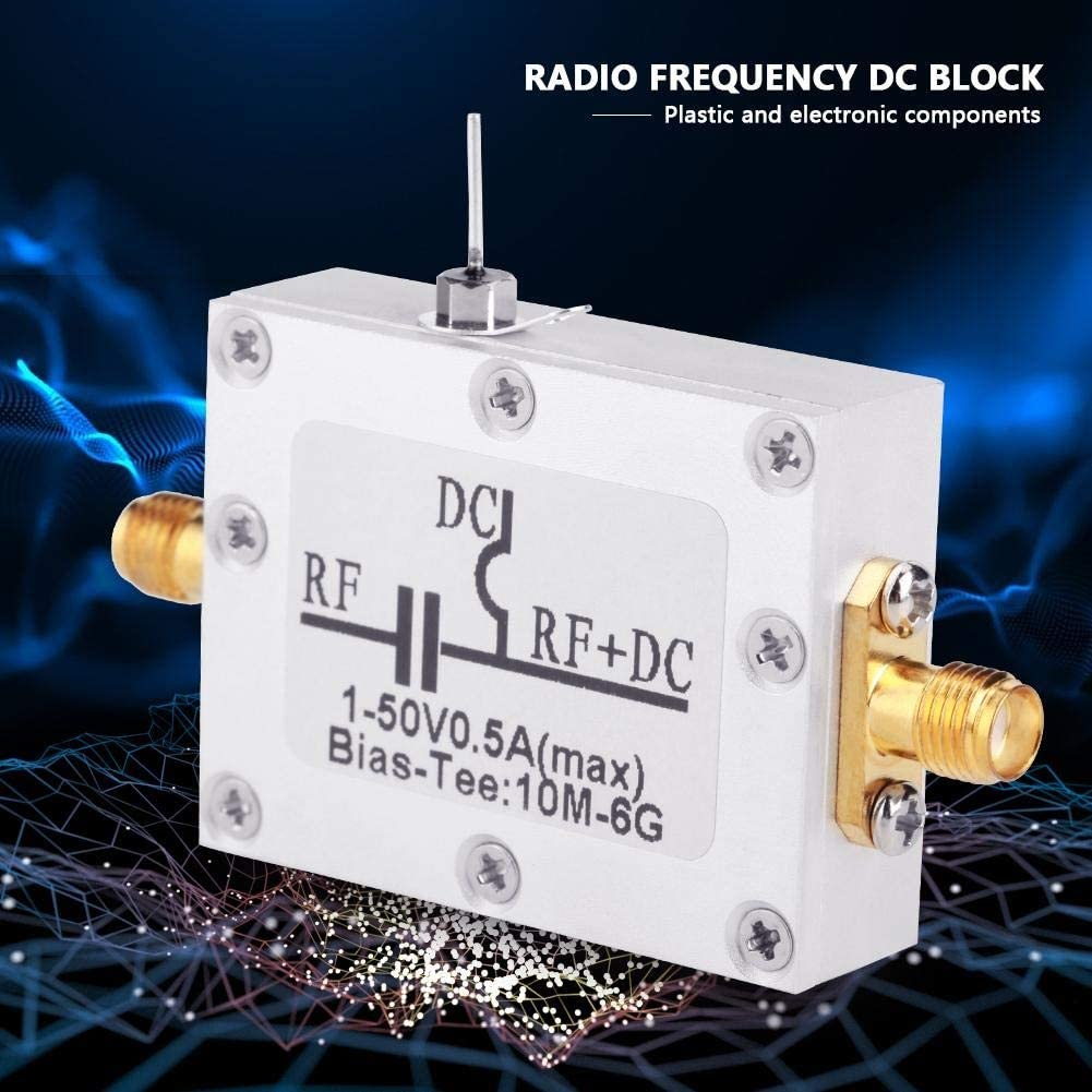 Nancunhuo Bias Tee-1 Pz 10MHz-6GHz Bias Tee 10MHz-6GHz Broadband Radio Frequency Microonde Coassiale Bias