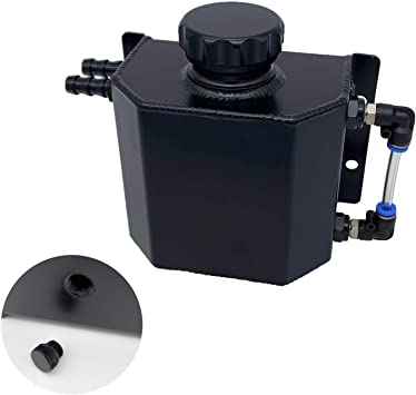 Black Peopop 1L Universal Aluminum Radiator Coolant Overflow Expansion Tank Recovery Water Tank Reservoir