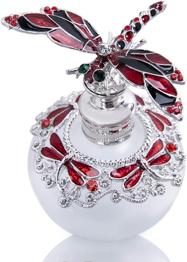 YU FENG - Bote de Cristal para Perfume (40 ml), diseño de Brillantes, rellenable