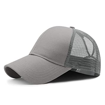 YPORE Hombres Big Head Sun Hat Lady Messy Bun Golf Hat Adulto ...