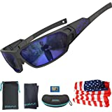 EAZYRUN HD Polarized Sunglasses for Women & Men, with Flexible Lightweight TR90 Frame, UV400 Protection, Ideal for Cycling,Ru