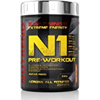 Nutrend N1 Shot 510g Red Orange Flavor professional Body Stimulant than the instant form of pre-workout promote muscle pumping Beta-alanine, AAKG Taurine Glucuronolactone Guarana Caffeine Choline DMAE