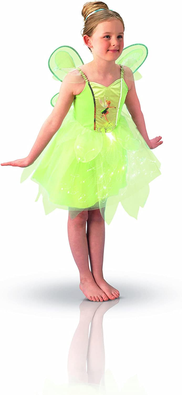 Peter Pan - Disfraz de Hada Campanilla con Luz y Alas para niña ...