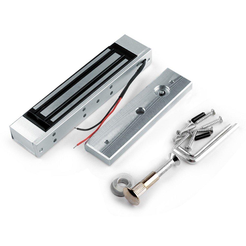 LIBO Serrure magn/étique /électrique 60KG//130LBS Contr/ôle dacc/ès /Électronique M/étal Verrou de Porte DC12V Fail Safe Type de NC pour la porte simple de syst/ème de s/écurit/é 60KG//130LBS