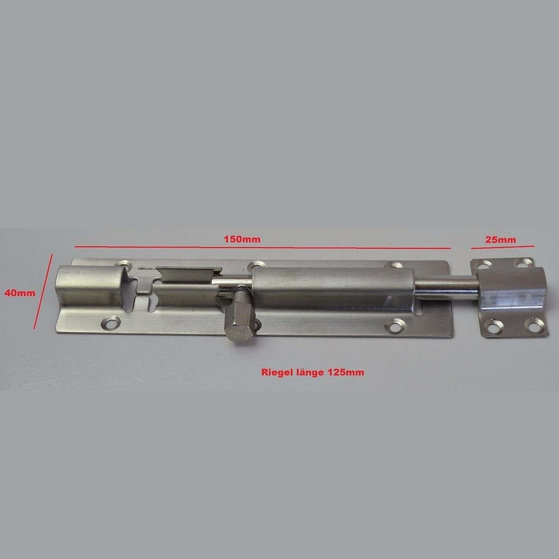 Cerrojo de puerta de acero inoxidable ideal para uso en interiores y exteriores cerradura de pestillo estable para puertas y portones 175 x 40 mm