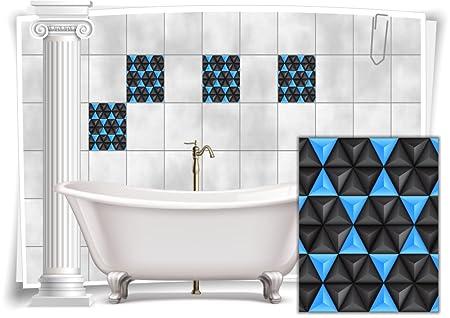 Fliesenaufkleber Fliesenbild Fliesen Aufkleber Mosaik Hellblau