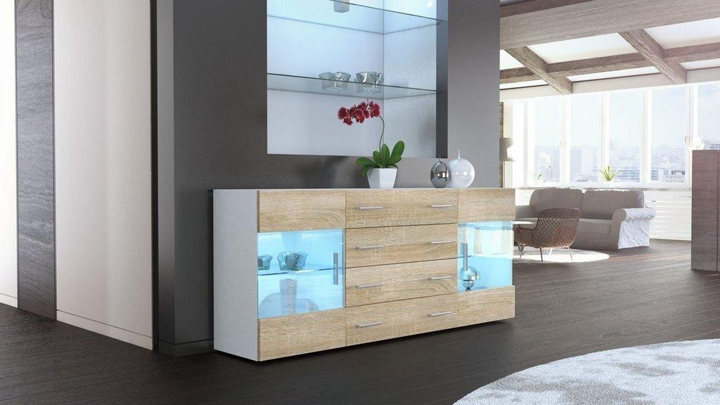 Credenza Moderna Color Tortora : Credenza moderna in legno massello di abete
