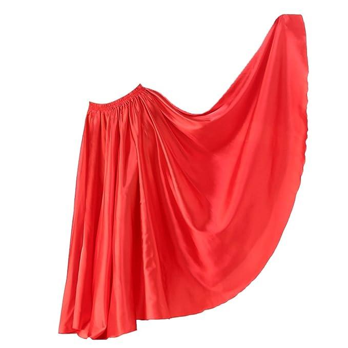 3ea0f402d D DOLITY Falda Larga de Mujer Plisada Cintura Elástico Vestido Vuelo ...