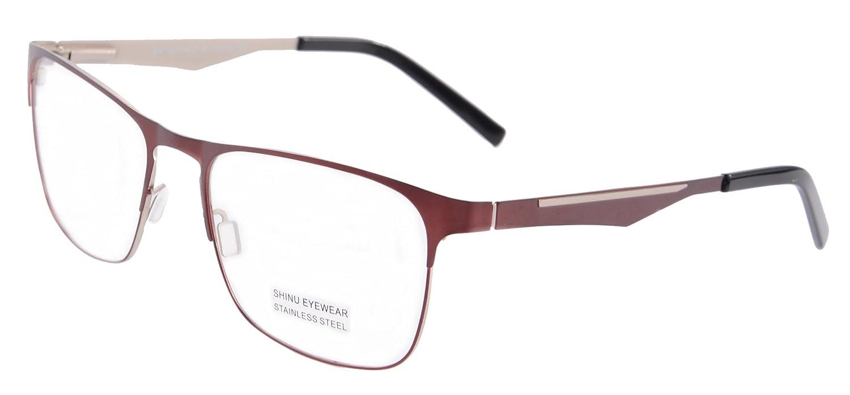 SHINU Metal Frame Wayfarer Blue Light Blocking Reading Glasses 1.56 Lenses-SR1457