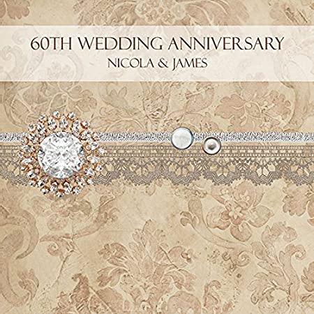 Personalised 60th wedding anniversary invitations vintage damask personalised 60th wedding anniversary invitations vintage damask pack of 10 stopboris Images