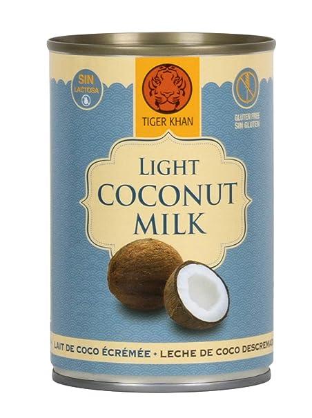 Tiger Khan Leche de Coco Baja en Grasa - 400 ml