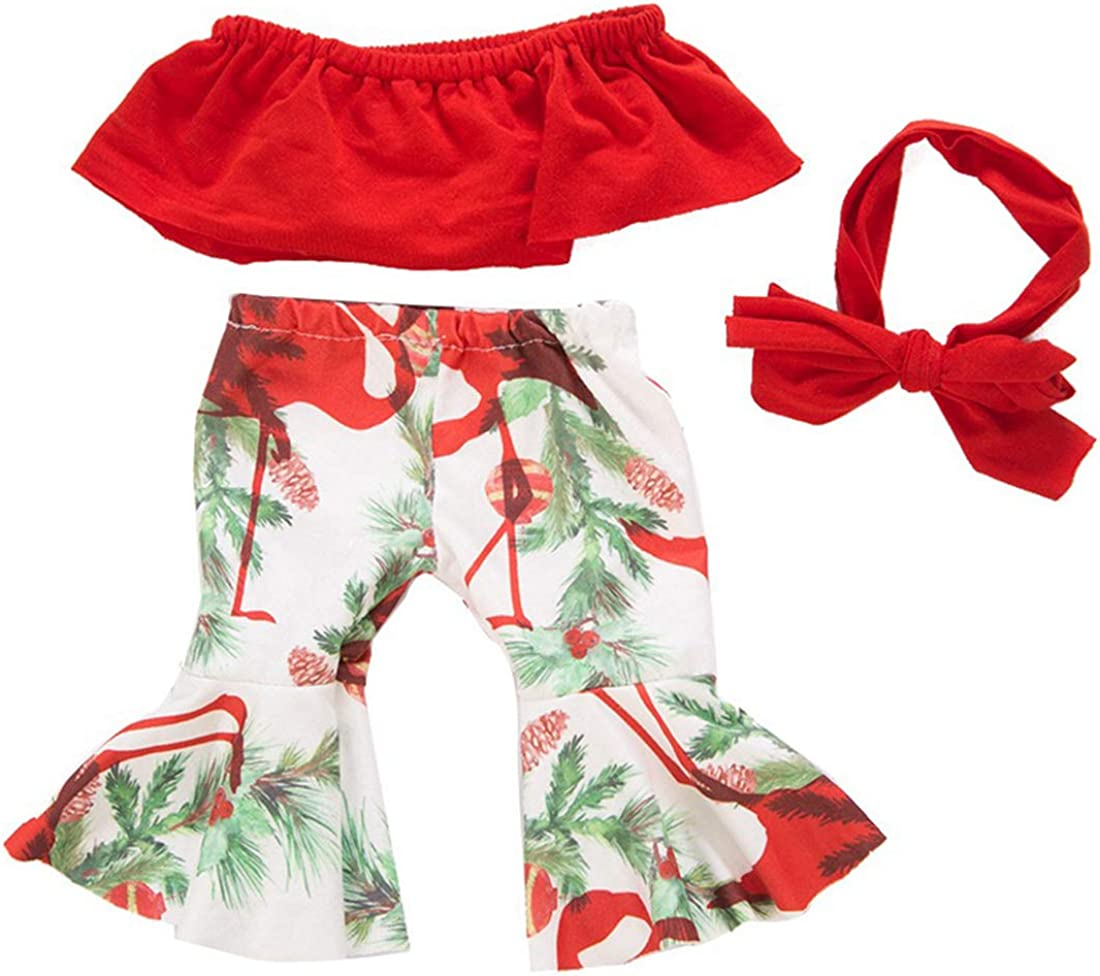 yijing Doll Clothing,3pcs Red Doll Clothes Accessories for 18 inch American Toy Girl Doll