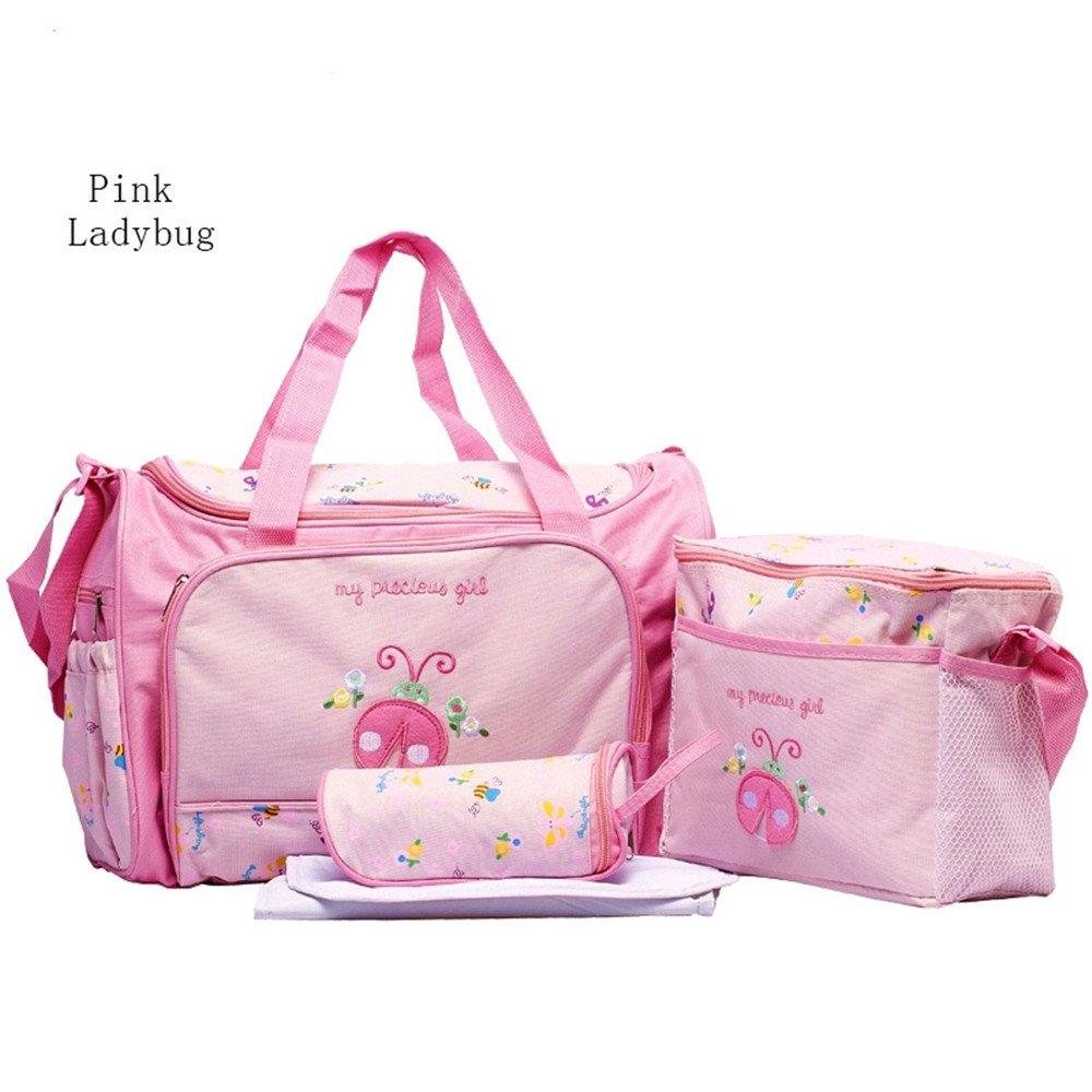 Hi 9 Shop Baby High Capcity Cartoon Diaper Bags for Pretty Mummy BONUS Changing pad bottle bag and baby bag HY-T005 (Blue Dinosaur)