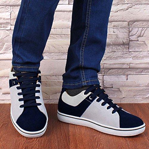 ZXCV Zapatos al aire libre Stealth dentro del aumento de los zapatos de los hombres zapatos casuales zapatos de moda Blanco