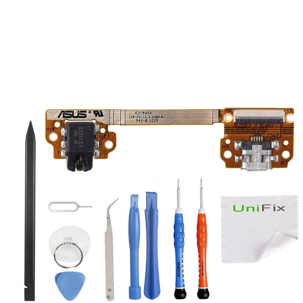 Unifix-Asus Google Nexus 7 ME370T 1st Gen Charging Port Flex Cable USB Dock Connector with Audio Jack Flex Replacement Parts OEM + Tool Kit
