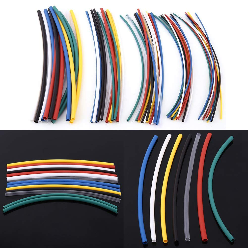 70 Pcs Halogen-free 2:1 Heat Shrink Tubing Wrap Cable Sleeve Shrinkable Tube