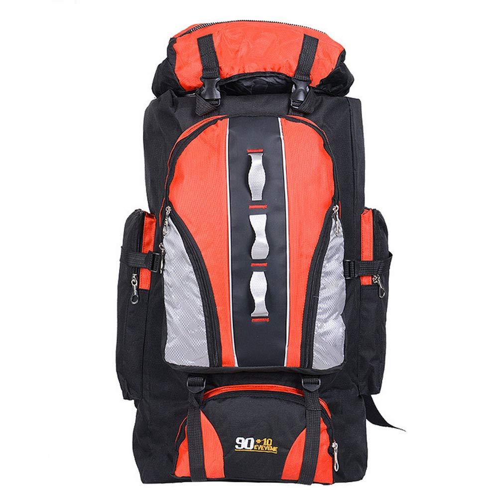 Orange  KXLK Plein Air Sac à Dos-100L pour Hommes Femmes Sac De Randonnée -Léger Contre La Pluie Léger Sac De Randonnée en Plein Air Sport pour Le Ski De Montagne en Hiver,noir