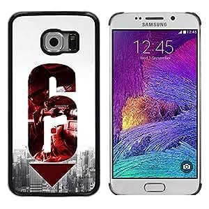 Paccase / SLIM PC / Aliminium Casa Carcasa Funda Case Cover para - 6 Gun - Samsung Galaxy S6 EDGE SM-G925