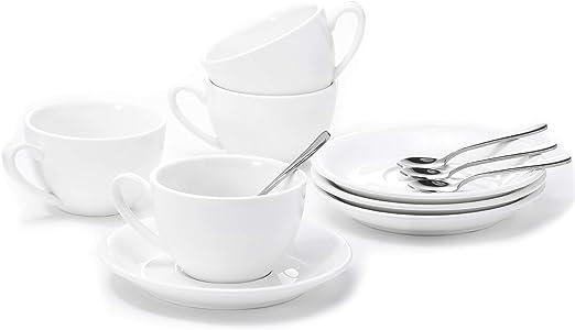 Amazon.com: Vasos y platillos de porcelana Aozita con ...