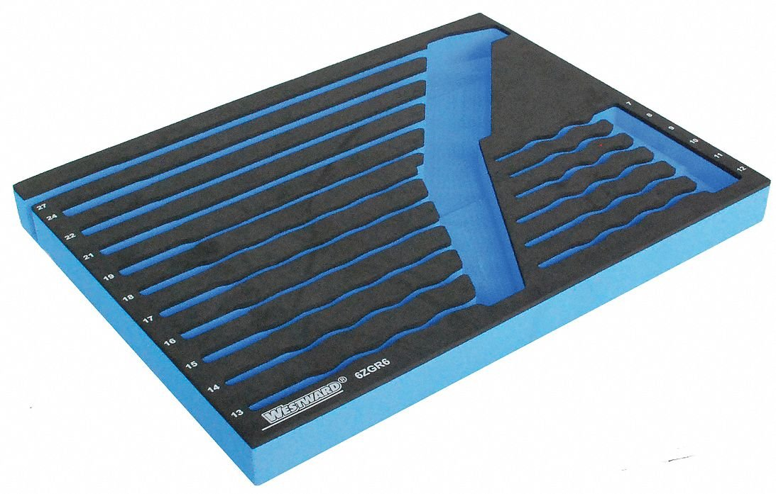Westward 6ZGR6 Foam Insert EVA Black//Blue For 4PL91
