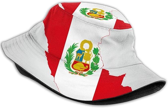 Mapa de la Bandera de Perú Sombrero de Cubo Sombreros de Pescador ...