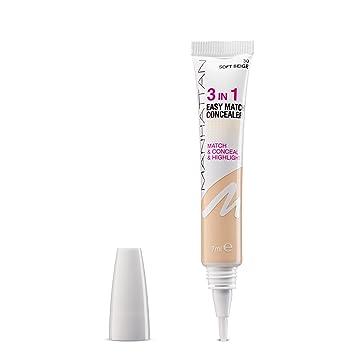 Manhattan 3in1 Easy Match Concealer, Farbe 30, Soft Beige, Passt Sich  Perfekt Dem