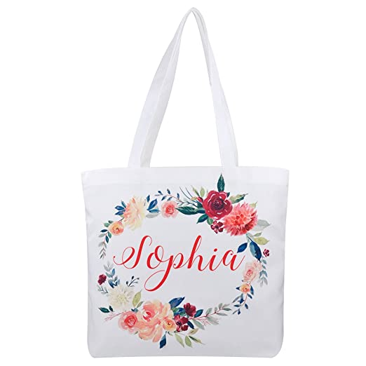 Personalized Tote Bag Custom Bridesmaid Gift Bag Canvas Tote Bag Mother Gift